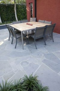 Crazy Pave Bluestone outdoor with table and chairs