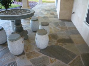 crazy paving quartz loose stone pavers