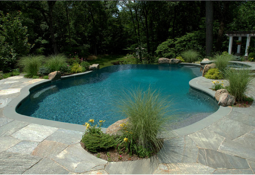 Crazy paving pool pavers crazy paving Flagstone pavers around pool