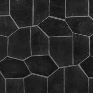 EBONY Black crazy paving on mesh melbourne, sydney